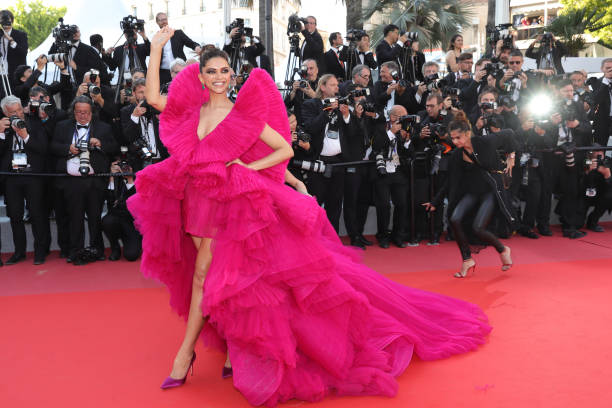 """Actress Deepika Padukone attends the screening of """"Ash Is The Purest White """" during the 71st annual Cannes Film Festival at Palais des Festivals on..."""