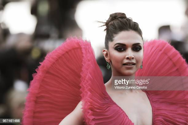 Actress Deepika Padukone attends the screening of 'Ash Is The Purest White ' during the 71st annual Cannes Film Festival at Palais des Festivals on...