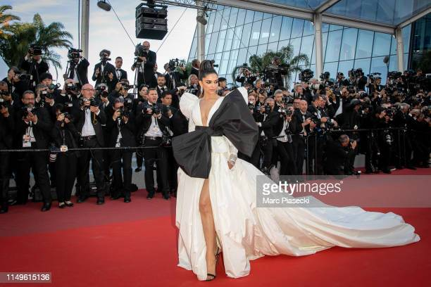 Actress Deepika Padukone attends the screening of Rocketman during the 72nd annual Cannes Film Festival on May 16 2019 in Cannes France