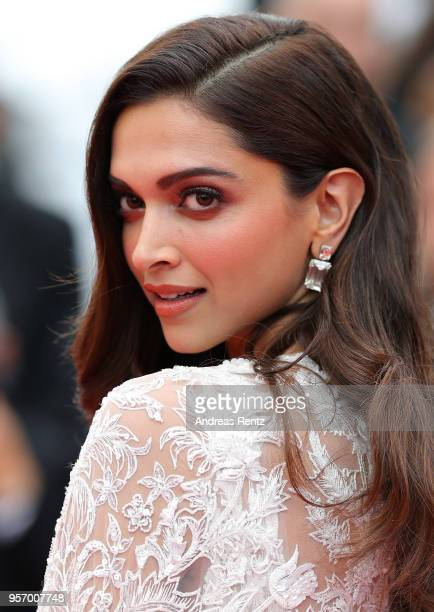 Actress Deepika Padukone attends the screening of Sorry Angel during the 71st annual Cannes Film Festival at Palais des Festivals on May 10 2018 in...