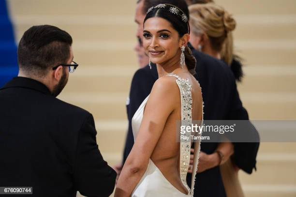 "Actress Deepika Padukone enters the Rei Kawakubo/Comme des Garcons: Art Of The In-Between"" Costume Institute Gala at the Metropolitan Museum of Art..."