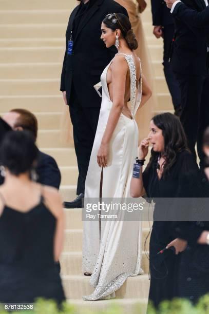 Actress Deepika Padukone enters the Rei Kawakubo/Comme des Garcons Art Of The InBetween Costume Institute Gala at the Metropolitan Museum of Art on...