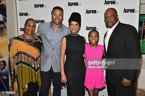 Actress DeEtta West, Actor Karon Riley, Actress Victoria Rowell, Actress Nadej Bailey, and Actor Gregory Alan Williams attend the Premiere Screening...