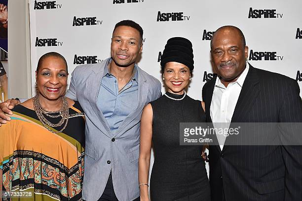 "Actress DeEtta West, Actor Karon Riley, Actress Victoria Rowell, and Actor Gregory Alan Williams attend ASPiRE Premiere Screening of ""Magic in the..."