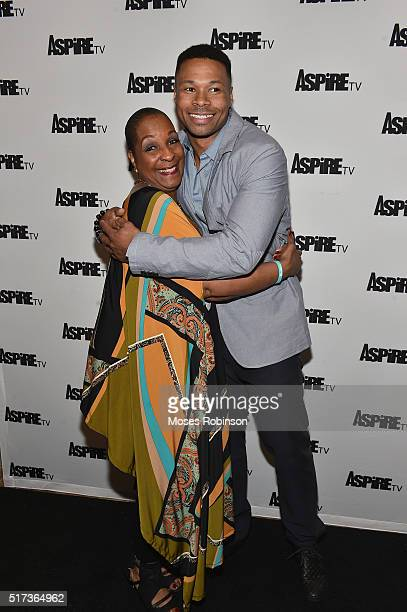 Actress DeEtta West Actor Karon Riley attend the Premiere Screening Of The Aspire Original Magic In The Making at The Woodruff Arts Center Symphony...