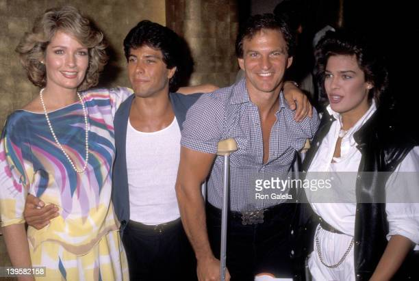 Actress Deidre Hall, actor Michael Leon, actor Josh Taylor and actress Kristian Alfonso attend Deidre Hall's Lunchbreak Party on May 25, 1984 at...