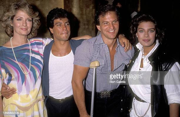 Actress Deidre Hall actor Michael Leon actor Josh Taylor and actress Kristian Alfonso attend Deidre Hall's Lunchbreak Party on May 25 1984 at...