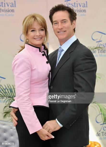 Actress Deidre Hall and actor Drake Hogestyn attend a photocall promoting the television series 'Des Jours et des Vies ' on the third day of the 2008...