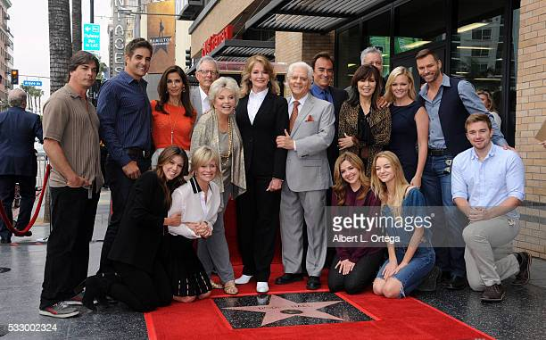 Actress Deidre Hall and cast members from Days Of Our Lives at Deidre Hall's Star ceremony held On The Hollywood Walk Of Fame on May 19 2016 in...