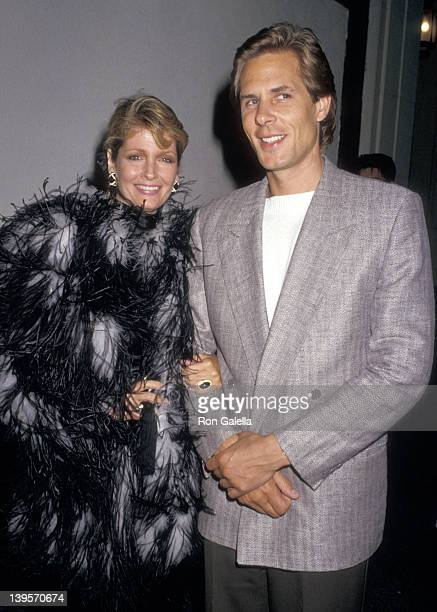 Actress Deidre Hall and date Michael Dubelko attend David Copperfield's Magic Show on May 15 1987 at Pantages Theatre in Hollywood California