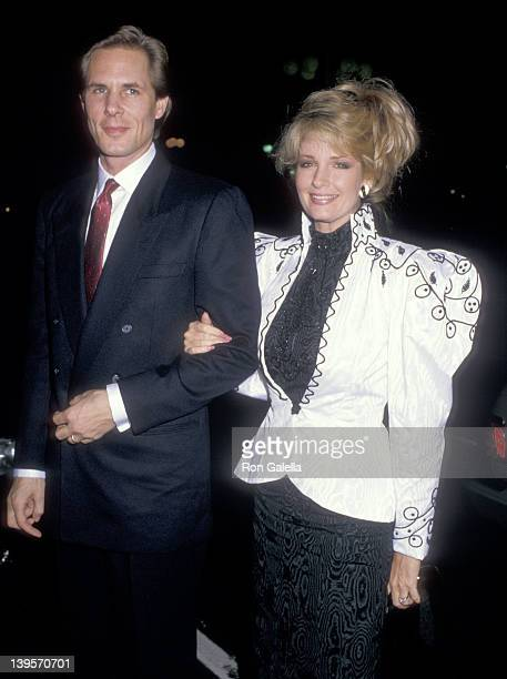 Actress Deidre Hall and date Michael Dubelko on January 13 1988 dine at Spago in West Hollywood California