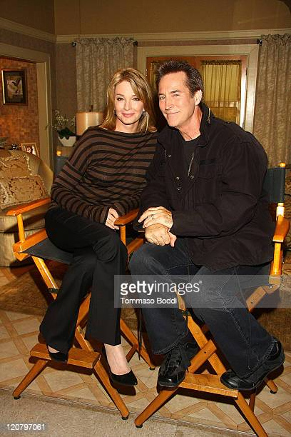 Actress Deidre Hall and Drake Hogestyn attend 'Days Of Our Lives' Press Reception and Junket held at the NBC Studios on August 10 2011 in Burbank...