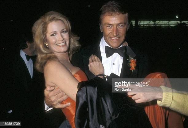 Actress Deidre Hall and guest attend the 1980 American Movie Awards After Party on February 11 1980 at Chasen's Restaurant in Beverly Hills California