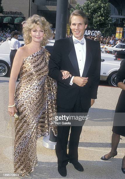 Actress Deidre Hall and husband Michael Dubelko attend the 40th Annual Primetime Emmy Awards on August 28 1988 at Pasadena Civic Auditorium in...