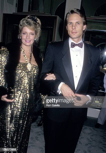 Actress Deidre Hall and husband Michael Dubelko attend the American Cancer Society Honors Nina Blanchard on February 1 1988 at Beverly Hilton Hotel...