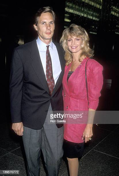 Actress Deidre Hall and husband Michael Dubelko attend the I Love You Perfect West Hollywood Premiere on September 5 1989 at DGA Theatre in West...