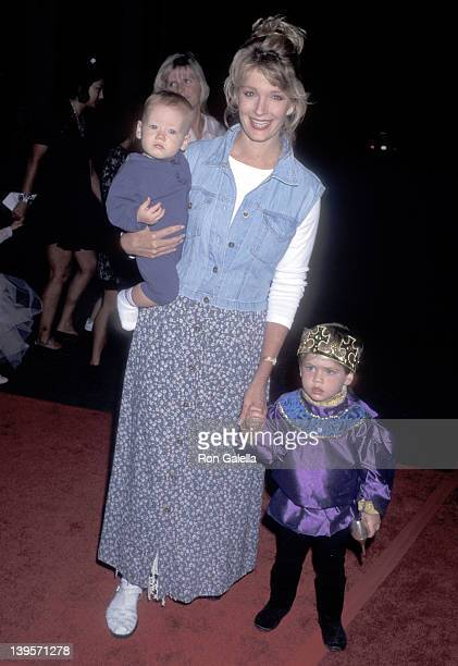 Actress Deidre Hall and sons Tully Sohmer and David Sohmer attend the Cinderella Video Cassette and Album Release Party on October 2 1995 at Walt...