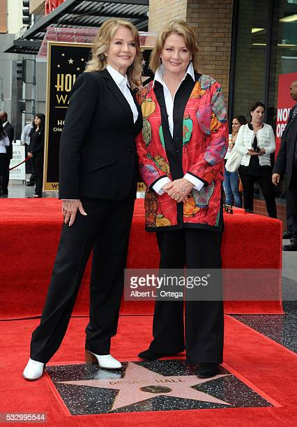 Actress Deidre Hall and twin sister Andrea Hall at Deidre Hall's Star ceremony held On The Hollywood Walk Of Fame on May 19 2016 in Hollywood...
