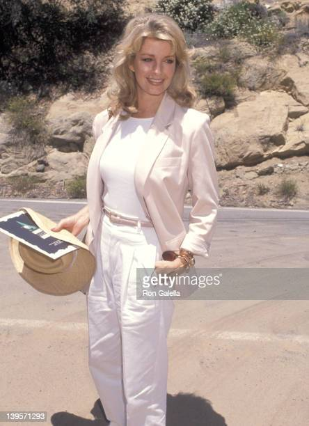 Actress Deidre Hall attends the Second Annual Earth Communications Office Conference on June 24 1990 at the Rambla Pacifico Mountains in Malibu...