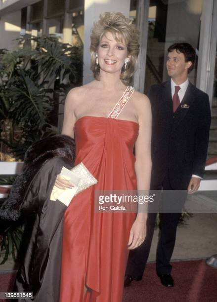 Actress Deidre Hall attends the Television Academy Hall of Fame Induction Ceremony on March 24, 1985 at Santa Monica Civic Auditorium in Santa...