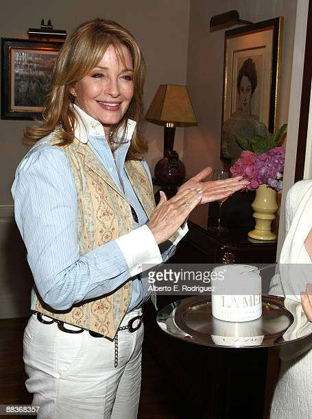 Actress Deidre Hall samples La Mer cream at the World Oceans Day celebration hosted by La Mer and Oceana at Private Residence on June 8 2009 in Los...