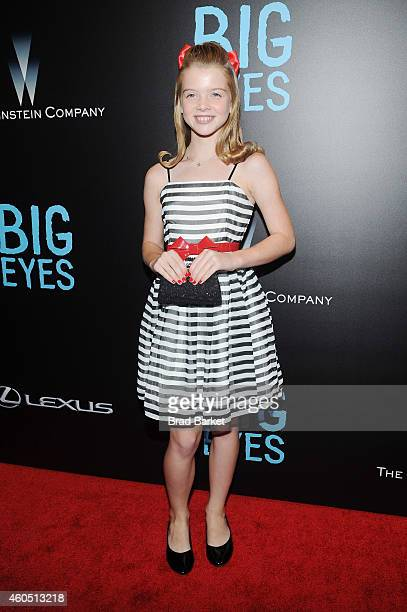 "Actress Delaney Raye attends the ""Big Eyes"" New York Premiere at Museum of Modern Art on December 15, 2014 in New York City."