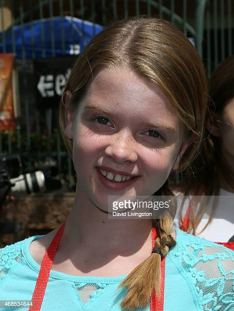Actress Delaney Raye attends the Los Angeles Mission Easter event at the Los Angeles Mission on April 3, 2015 in Los Angeles, California.