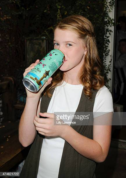 Actress Delaney Raye backstage at the SAP - The Starving Artists Project on May 23, 2015 in Los Angeles, California.