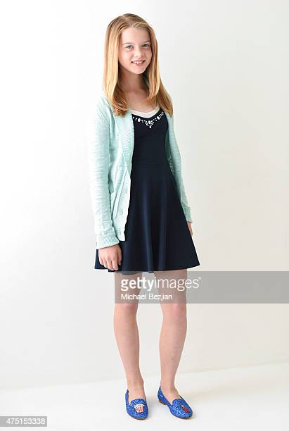 Actress Delaney Raye in Chiara Ferragni Shoes poses for portrait at The SAP - The Starving Artists Project - Portraits on May 23, 2015 in Los...