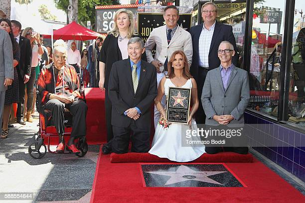 Actress Della Reese, actress/producer Roma Downey, producer Mark Burnett, pastor Rick Warren and Hollywood Chamber of Commerce, President/CEO Leron...