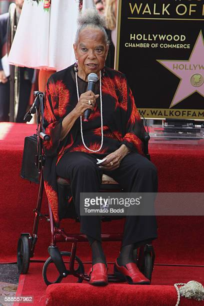Actress Della Reese attends a ceremony honoring actress/producer Roma Downey with a star on the Hollywood Walk of Fame on August 11 2016 in Hollywood...