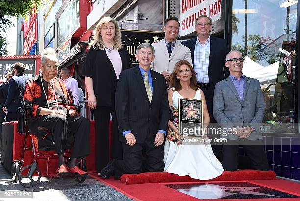 Actress Della Reese, Hollywood Chamber of Commerce Chair of the Board Fariba Kalantari, DDS, Hollywood Chamber of Commerce President/CEO Leron...