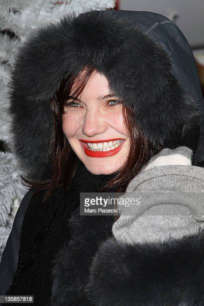 Actress Delphine Chaneac attends the 'Association Petits Princes' And Coca Cola Red Train Launch at Gare de L'Est on December 15 2011 in Paris France