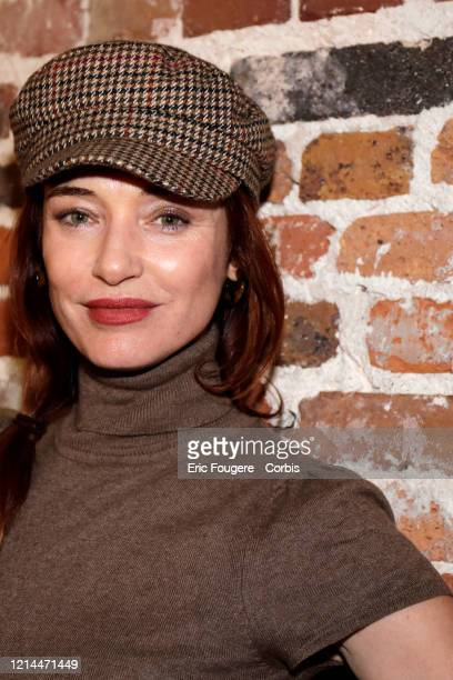 Actress Delphine Rollin poses during a portrait session in Paris France on
