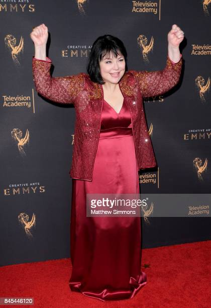 Actress Delta Burke poses in the press room at the 2017 Creative Arts Emmy Awards at Microsoft Theater on September 10 2017 in Los Angeles California
