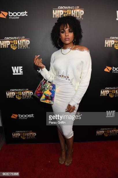 Actress Demetria McKinney attends 'Growing Up Hip Hop Atlanta' season 2 premiere party at Woodruff Arts Center on January 9 2018 in Atlanta Georgia