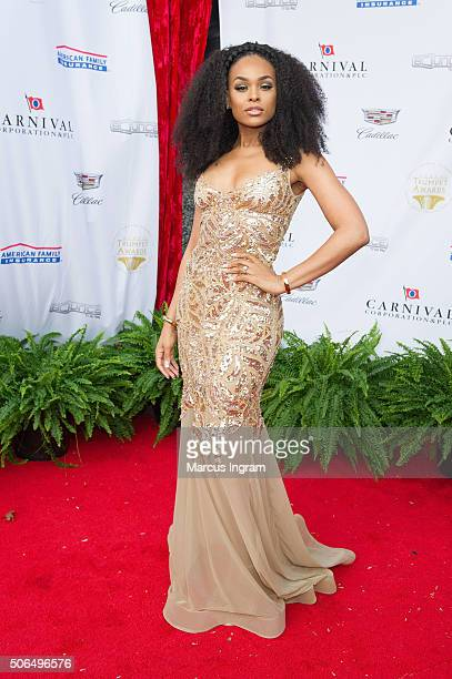 Actress Demetria McKinney attends the 2016 Trumpet Awards on January 23 2016 in Atlanta Georgia