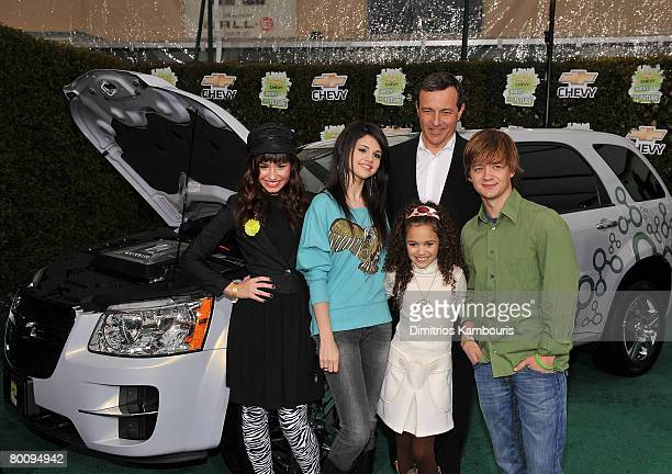 Actress Demi Lovato actress Selena Gomez actress Madison Pettis President and CEO of the Walt Disney Corporation Robert Iger and actor Jason Earles...