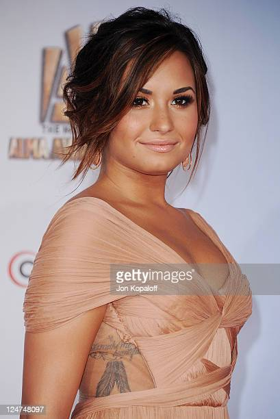 Actress Demi Lovato arrives at the 2011 NCLR ALMA Awards at Santa Monica Civic Auditorium on September 10 2011 in Santa Monica California