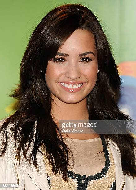 Actress Demi Lovato attends new Disney TV & Music Season photocall at the Disney Channel building on April 20, 2009 in Madrid, Spain.