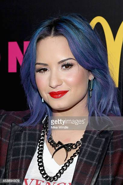 Actress Demi Lovato attends NYLON McDonald's Dec/Jan issue launch party hosted by cover star Demi Lovato on December 5 2013 in West Hollywood...