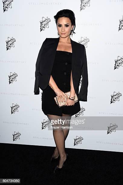 Actress Demi Lovato attends Stella McCartney Autumn 2016 Presentation at Amoeba Music on January 12 2016 in Los Angeles California