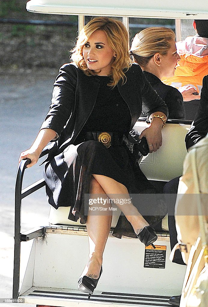 Actress Demi Lovato is seen on May 13, 2013 in New York City.