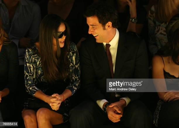 Actress Demi Moore and actor Clive Owen at Miss Sixty Spring 2008 during Mercedes-Benz Fashion Week at the Tent, Bryant Park on September 5, 2007 in...