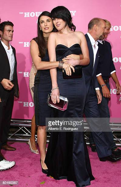 Actress Demi Moore and actress Rumer Willis arrive at Columbia Pictures' premiere of House Bunny held at the Mann Village Theater on August 20 2008...
