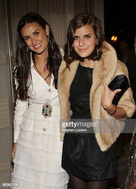 Actress Demi Moore and daughter Tallulah Belle Willis attend the after party for the screening of Flawless hosted by The Cinema Society at the SoHo...