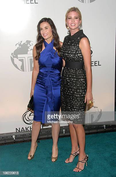 Actress Demi Moore and Ivanka Trump attend the worldwide launch of the Trump International Hotel Tower Dubai on June 23 2008 at The Park Plaza in New...