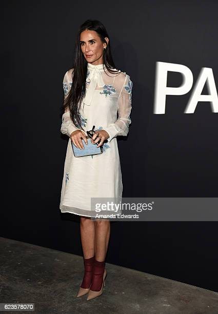 Actress Demi Moore arrives at a screening of David O Russell's Past Forward hosted by Prada at Hauser Wirth Schimmel on November 15 2016 in Los...
