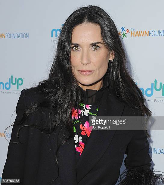 Actress Demi Moore arrives at Goldie Hawn And Kurt Russell Host Annual Goldie's Love In For Kids at Ron Burkle's Green Acres Estate on May 6 2016 in...