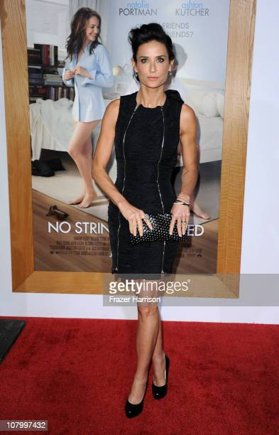 Actress Demi Moore arrives at Paramount Pictures' No Strings Attached premiere at Regency Village Theater on January 11 2011 in Westwood California